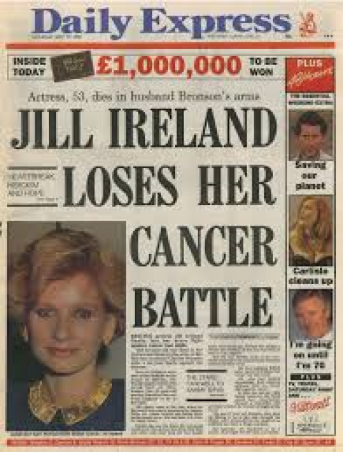 Newspapers announce sad news that Jill had lost her battle with cancer