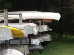 Stored boats at Burrell Lake (c) A Harrison