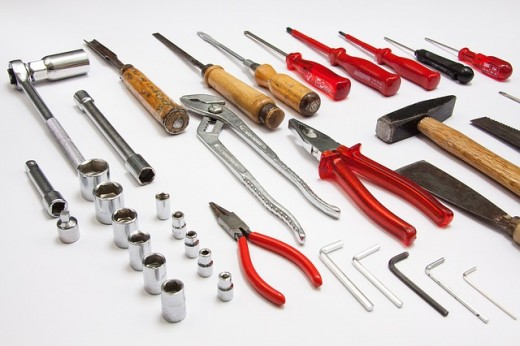 the worker's tools