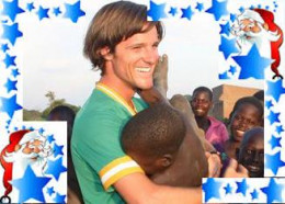 Hugging an African child really gets me in the Christmas spirit!