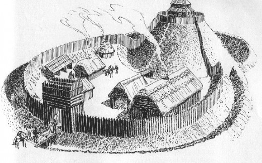 Norman castle - the early ones were prone to  incendiary attacks, and were replaced by stone castles as early as the 1070's