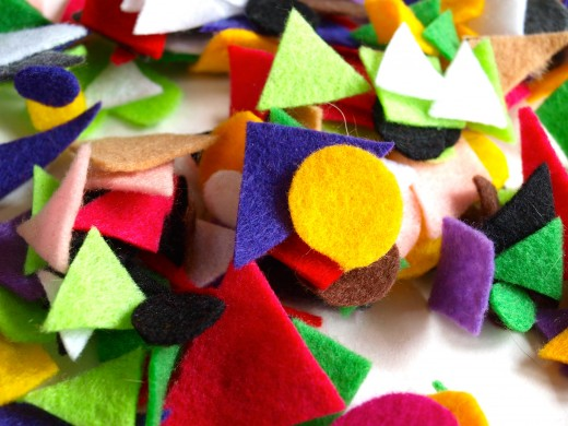 Felt shapes of all colors and sizes.