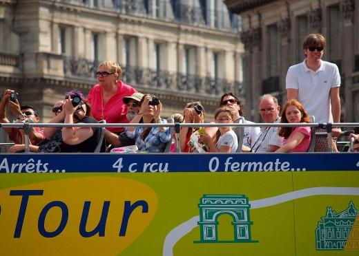 Tour bus in Paris
