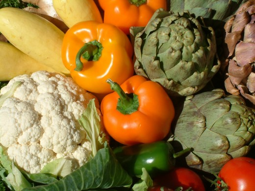 A nutritious diet contains lots of vegetables and can boost the immune system.