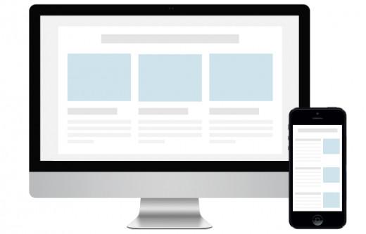 Responsive email desktop phone