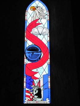 Stained Glass Window honoring Robert Wright and Kenneth Moore