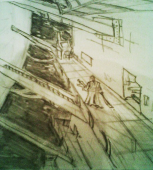 Concept art of a later chapter from the book.