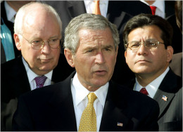 """President Bush and Vice President Cheney justified the use of """"enhanced interrogation"""" based on memoranda from the Justice Department that were later commonly known as the """"Torture Memos""""."""