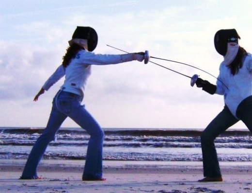 Epee Fencing at Jacksonville Beach