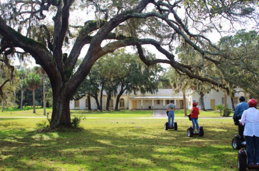 Exploring Fort George Island on Segways