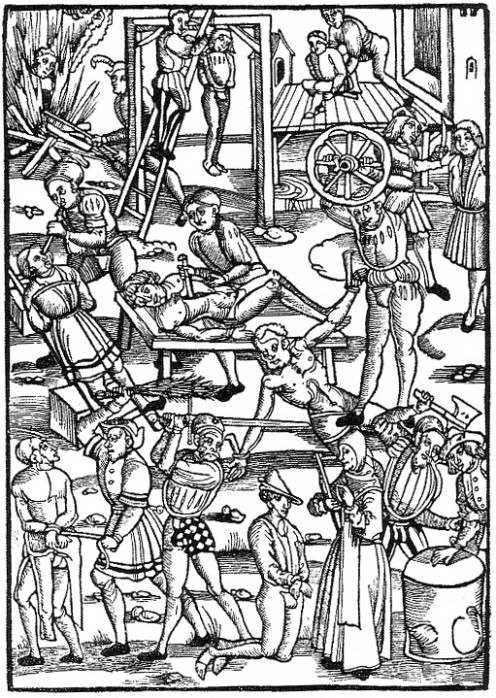 Torture in the 16th Century. Looks fun! (public domain)