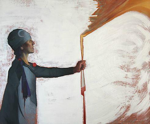 Talking Stick - oil on canvas