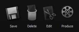 Camtasia Save Options Toolbar