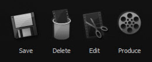 Camtasia Save Options Toolbar