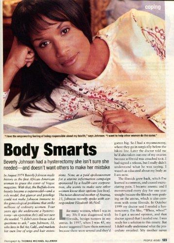 Beverly Johnson Clipping Magazine photo orig 1pg 8x10 J10663