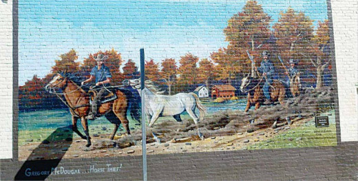 McGregor McDougle is featured on a mural in Ligonier