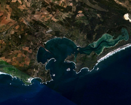 Saldanha Bay - natural harbour and largest and deepest exporting port of ore (iron) in the Southern Hemisphere