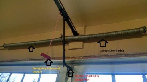 two car torsion spring garage door setup