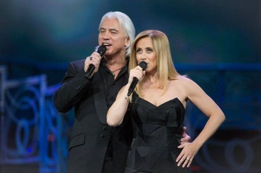 Lara Fabian and Dmitri Hvorostovsky in the Kremlin Palace, in Moscow, Russia, in Igor Krutoy's 60th birthday celebratory concert - November 2014.