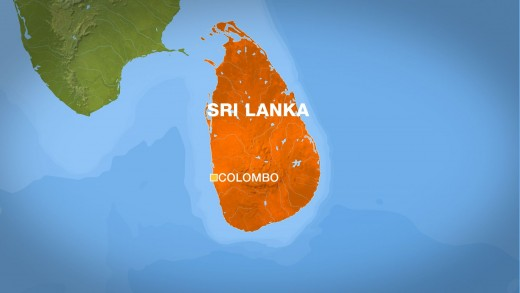 Known as Pearl of the Indian Ocean - Sri Lanka located south of India in the Indian Ocean