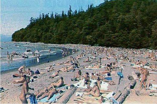 wreck beach in canada