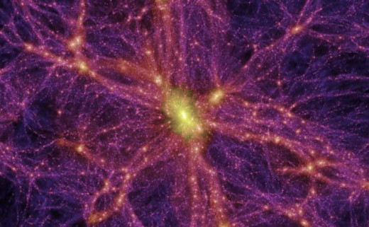 An irrelevant image as it has proved impossible so far to see Dark Matter!
