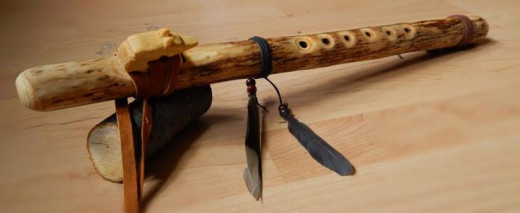 A Native American Style Flute that I have personally made.