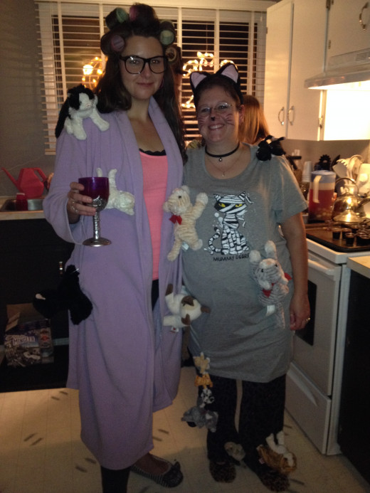 My friend and I dressed up as Crazy Cat Ladies