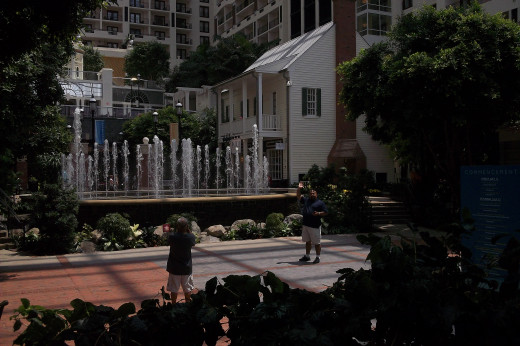 The inside of the Gaylord in the summer.