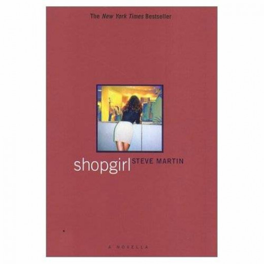 The cover of the book is neither imposing nor particularly inviting. It depicts a woman leaning over a shop counter as Mirabelle frequently does in the story.