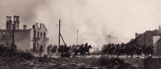 Polish cavalry at Sochaczew.
