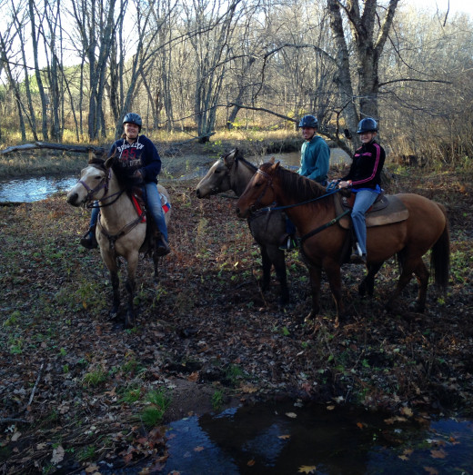 The horses that we rode were Sierra, Cody, and Dixie(?).