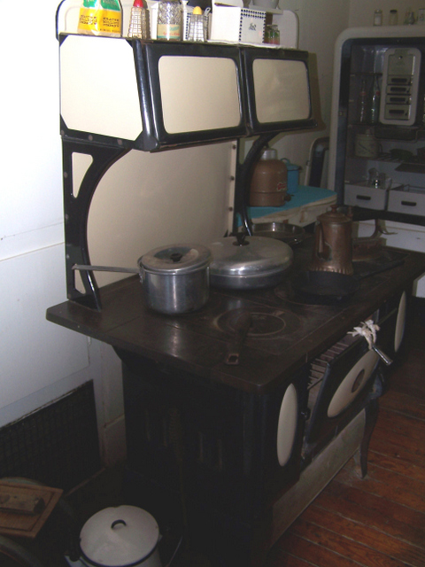 This wood stove is very similar to the one my Mother cooked on.