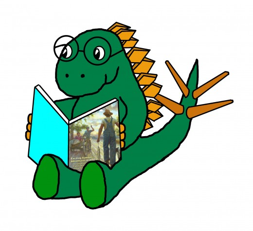 Jeff Stegosaurus is always reading!