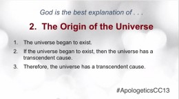 a different version of the cosmological argument