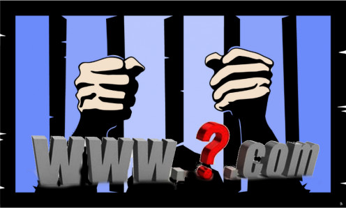 Domain name held prisoner picture derived by Robert G. Kernodle