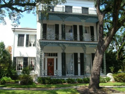 An Italianate  home in the DeTonti Square Historic District, north of Downtown Mobile, Alabama