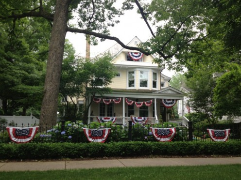 Local homes decorated for the 4th of July