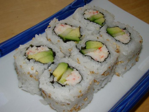 I love the california rolls!
