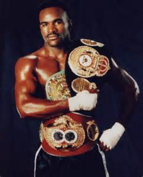 """Rickey Parkey fought all the best cruiserweight fighters including Evander """"The Real""""  Holyfield. (Pictured)"""