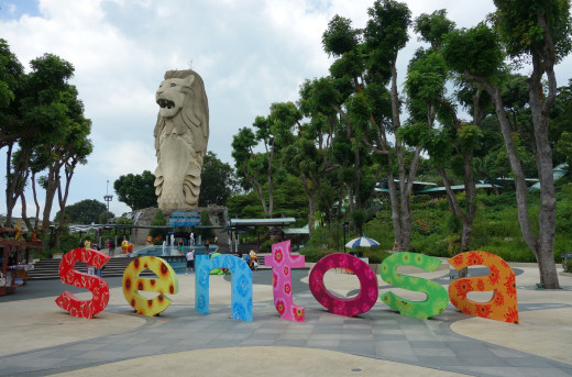 Merlion at Sentosa