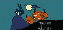 Halloween Words and Vocabulary Lists