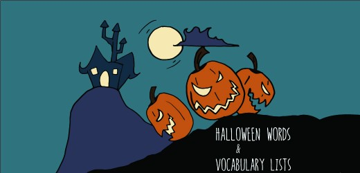 100 halloween words and quite a few vocabulary lists