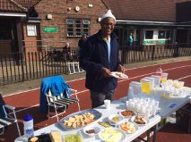 Serving snacks at a 24-hr race in London