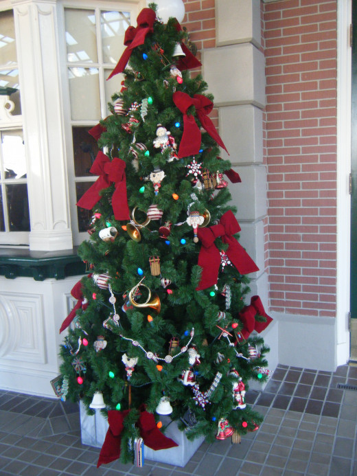 One of the many trees at the Magic Kingdom.
