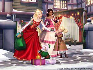 A screenshot image from the movie: Barbie In A Christmas Carol