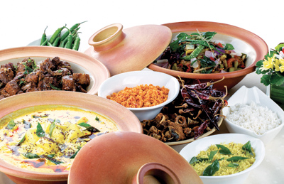 Variety of curries