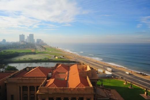 Coastal view of Colombo city