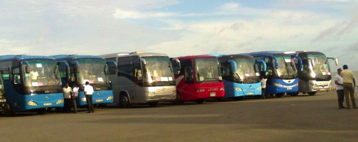 Comfortable tourist coaches dedicated for tourism are coomon