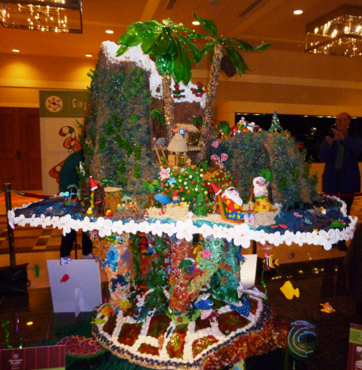 Merry Christmas from Hawaii at the 2014 Seattle Sheraton Gingerbread Village